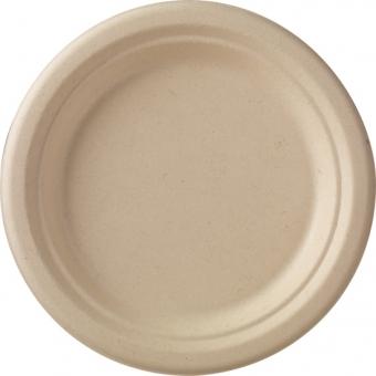 assiette bagasse marron Ø 18cm 8x50