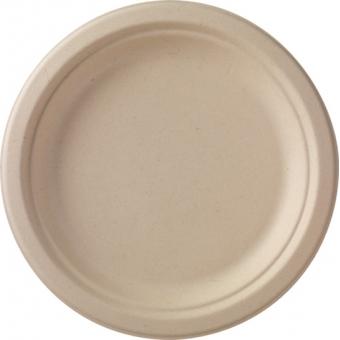 assiette bagasse marron Ø 22cm 9x50