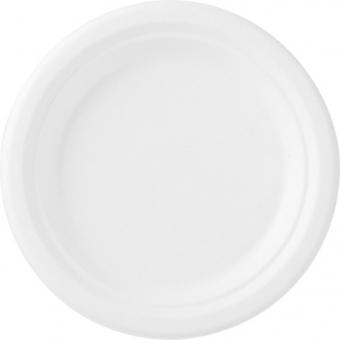 assiette bagasse blanchie Ø 17cm 10x50
