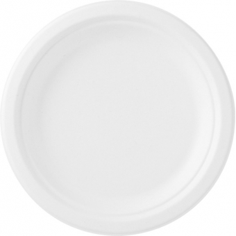 assiette bagasse blanchie Ø 22cm 8x50