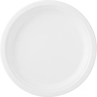 assiette bagasse blanchie Ø 26 cm 8x50