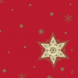 serviette glittering star rouge