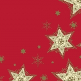 Serviette Glittering Stars rouge