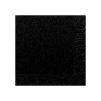 Serviette unie noir
