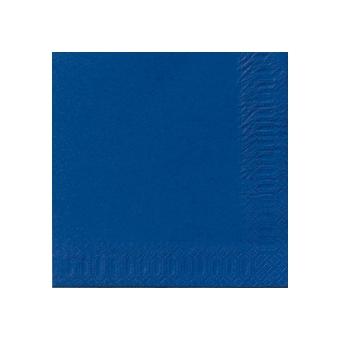 Serviette unie bleu foncé