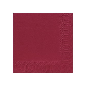 Serviette unie bordeaux