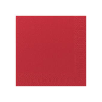 Serviette unie rouge