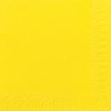Serviette unie jaune