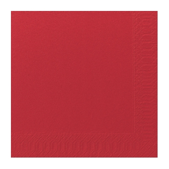 Serviette unie rouge