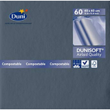Serviette Dunisoft unie ardoise