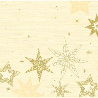 Serviette Star Stories crème
