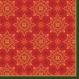 Serviette Xmas Deco rouge