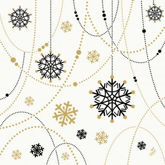 Serviette Snowflake Necklace blanc