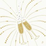 Serviette Festive Cheers blanc