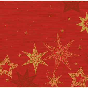 Serviette Star Stories rouge