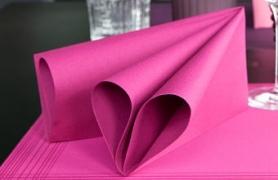 Serviettes DUNISOFT unies 40 x 40 cm