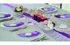 Chemin de table fibre couleur