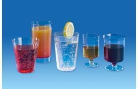 Gobelets, verres, flûtes et tasses éphémères